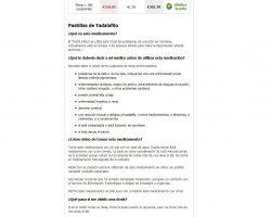 Comprar Cialis Generico 10 mg, 20 mg, 40 mg.Precio Cialis sin receta - comprarcialisgenericoespana20mg.net