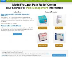 Pain Management Information | US Online Pharmacy | Meds4you.net